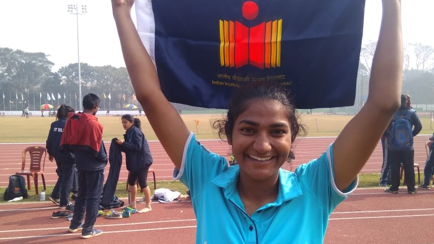 Ms. Poonam Meena, IITH student wins a Bronze medal in the long jump at 54th Inter IIT Sports meet