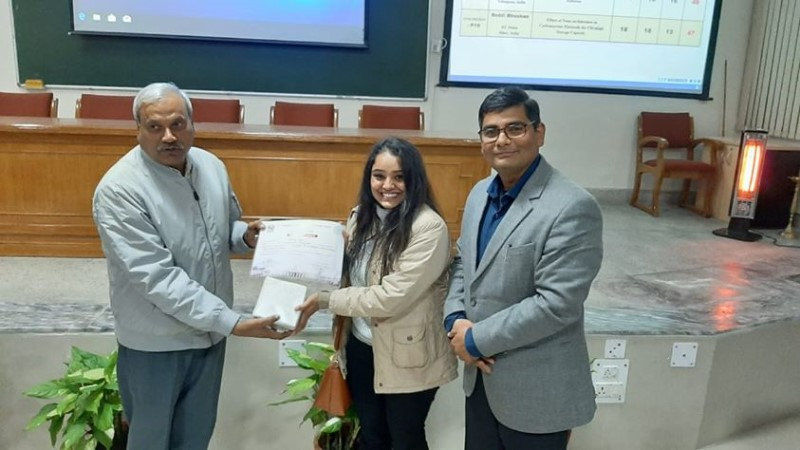 Ms. Poonam Rani won the 'Best Poster Presentation'